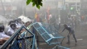 Bengal violence: Police use tear gas, water canon during protest rally