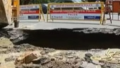 Road caves in at busy intersection in Chennai, traffic affected