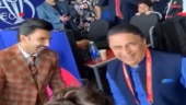 Image of the day: Sunil Gavaskar, Ranveer Singh gets into Shammi Kapoor mode before India-Pak match