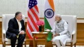 Mike Pompeo with PM Modi