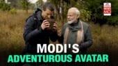 Modi on Man vs Wild with Bear Grylls