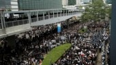 Hong Kong protests intensifying: Airport reopens but many flights remain cancelled