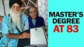 Punjab man gets a Master's degree at 83