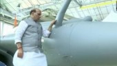 WATCH | Rajnath Singh performs Shastra Puja on Rafale jet