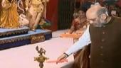 Amit Shah inaugurates Durga Puja pandal in Kolkata