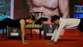 Deanne Panday throws a push-up challenge during India Today Conclave East 2019