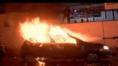 Anti-CAA protests: Car set on fire outside DCP's office in Delhi's Daryaganj