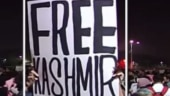 Mega row over 'Free Kashmir' posters