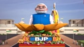 So Sorry: Political parties feature their Republic Day tableau