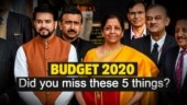 Budget 2020: You might have missed these 5 things