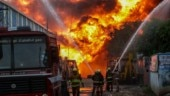Fire breaks out at oil warehouse in Chennai's Madhavaram area