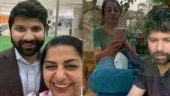 Suhasini Mani Ratnam talks to son Nandan across glass wall. Watch video