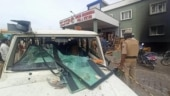 Mob attacks police station in Bengaluru, vehicles set ablaze
