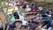 Image of the day: Villagers join hands to pull out a truck from 70 feet deep gorge in Nagaland