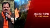 Uttarakhand Minister Fights Forest Fire with a Shrub