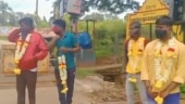 Image of the day: Bengaluru police garland people flouting Covid norms