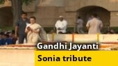 Sonia Gandhi pays tribute to Mahatma Gandhi at Rajghat