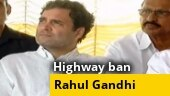 Rahul Gandhi joins highway ban protest in Wayanad