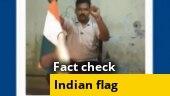 Did a man burn India's flag for Hindutva?