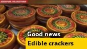 Good news: Sweets in the form of crackers are selling like hotcakes in Jodhpur