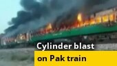 At least 65 killed as fire engulfs train in Pakistan