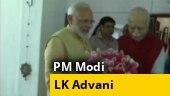 PM Narendra Modi meets LK Advani on his 92nd birthday