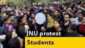 JNU protest turns ugly, Swami Vivekananda statue's defaced