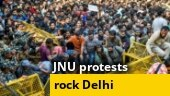 JNU showdown: Police stop students from marching towards Parliament