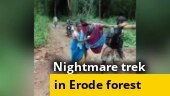 Erode woman in labour carried in cloth cradle through forest due to bad roads