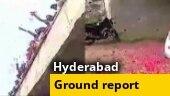 Telangana rape accused killed: People chant Hyderabad Police zindabad, shower flowers on cops