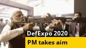 Gun ki baat: When PM Modi fired at virtual firing range with assault rifle, watch