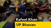 Protesters demand release of Kafeel Khan outside UP Bhavan in Delhi
