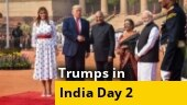 Donald Trump accorded ceremonial welcome, guard of honour at Rashtrapati Bhavan