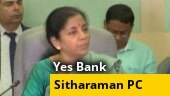 Depositors' money safe: Nirmala Sitharaman on Yes Bank crisis