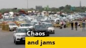 Traffic jam at Delhi-Gurugram route as Haryana seals borders after Covid cases spike in capital