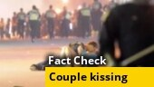 Is this couple kissing during the ongoing protests in the US?