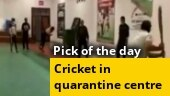 Image of the day: People play cricket inside quarantine facility in J&K's Baramulla