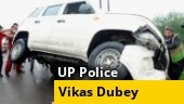 Car flipped after cattle came in front of convoy, Vikas Dubey tried to escape: UP Police