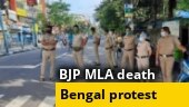 Buses vandalised, roads blocked in Bengal as BJP launches protest over MLA's death