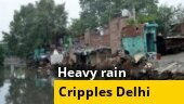 Delhi rains: Houses washed away, roads caves in