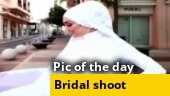 Image of the day: How a bridal photo shoot was interrupted by explosions in Beirut