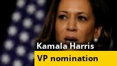 Kamala Harris accepts US vice presidential nomination