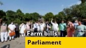 Farm bills: Opposition parties write to Prez; Suspended MPs hold indefinite dharna in Parliament premises; more