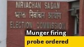 Munger firing: Election Commission orders removal of SP, DM