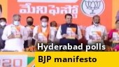 BJP releases manifesto for Greater Hyderabad civic polls