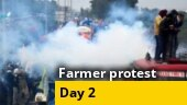 Day 2 of agitation: Farmers brave lathi charge, tear gas, water cannons, continue fight against farm laws