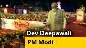 Watch: PM Modi lights first diya on Dev Deepawali Utsav in Varanasi