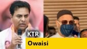 GHMC elections 2020: Telangana minister KT Rama Rao, AIMIM chief Owaisi cast vote