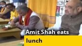 Watch: Amit Shah dines with Bengali folk singer at his residence