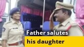 Good news: Father on duty salutes his DSP daughter